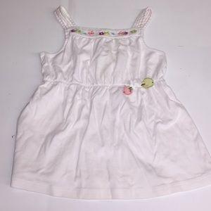 Little girls Gymboree white shirt  size 9